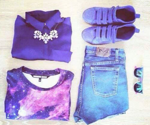 fashion, clothes, and galaxy image