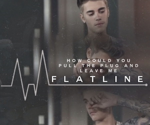 flatline, justin, and justin bieber image