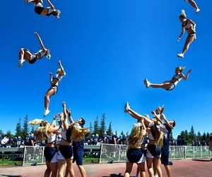 cheer, stunt, and basket toss image