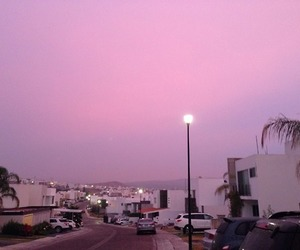 pink, sky, and tumblr image
