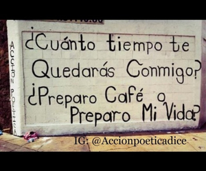 love, accion poetica, and cafe image