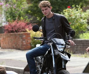 actor, jeremy, and motorcycle image