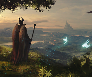 disney, wings, and maleficent image