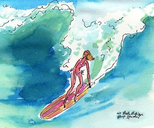 preppy, print, and surfing image