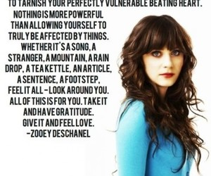 quote and zooey deschanel image