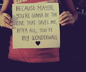 wonderwall, text, and oasis image