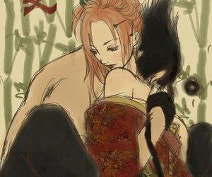sasuke uchiha, sasusaku, and sakura haruno image