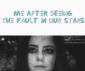the fault in our stars and sad image