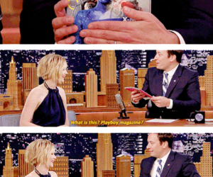 interview, Jennifer Lawrence, and jimmy fallon image