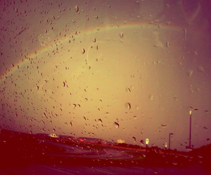 photography, rain, and rainbow image