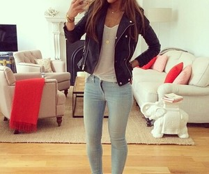 casual, jacket, and style image
