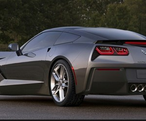 black, car, and corvette stingray image