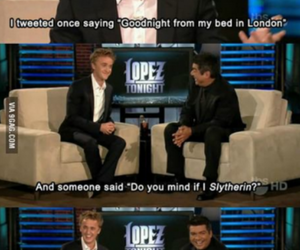 harry potter, tom felton, and funny image