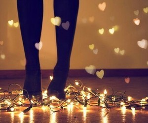 feet, hearts, and light image