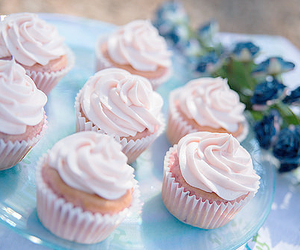 pastel, cupcakes, and pink image