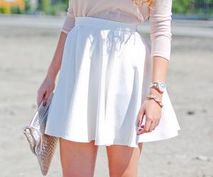 skirt, fashion, and white image
