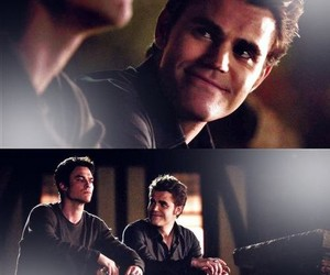 the vampire diaries, stefan salvatore, and damon salvatore image