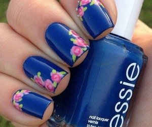 blue, nails, and essie image