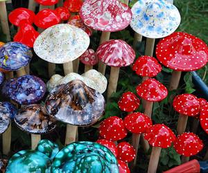 mushroom and colorful image