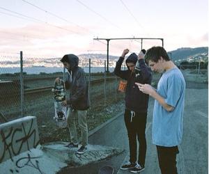 boy, skate, and grunge image