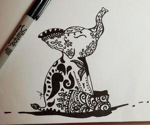 black, blanco y negro, and dibujo image