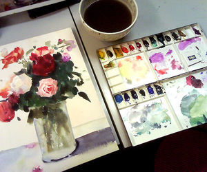 art, beautiful, and water colors image
