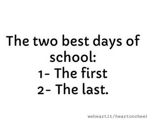 school, first, and last image