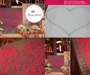 diy, heart, and home decor image