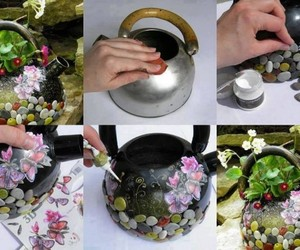 recycle, flower pot, and home decor image