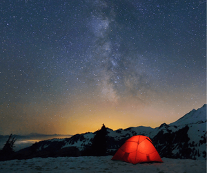 camping, night, and red image