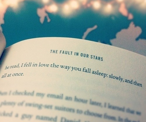 the fault in our stars, love, and book image