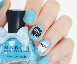 nails, blue, and okay image