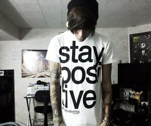 boy, Tattoos, and stay positive image