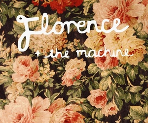 music, florence and the machine, and flowers image