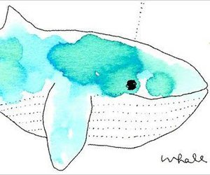 illustration, whale, and anine sin image