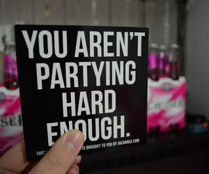 party, hard, and text image