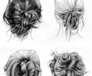 hair, drawing, and hairstyle image