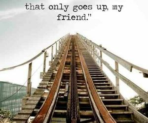 quote, quotes, and Roller Coaster image