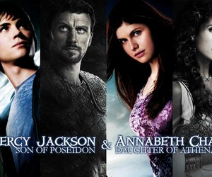 percy and annabeth, lightning theif, and poseidon and athena image