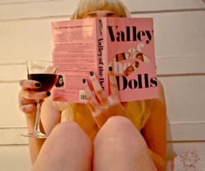 book, doll, and girl image