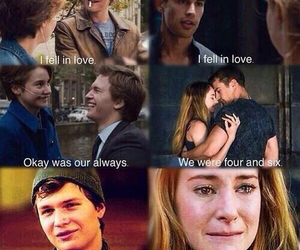 divergent, tris, and the fault in our stars image