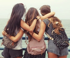 friends, girl, and best friends image