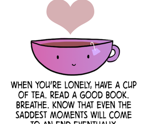 tea, lonely, and book image