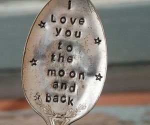 love, moon, and spoon image