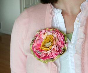 diy, flower, and ruffle image