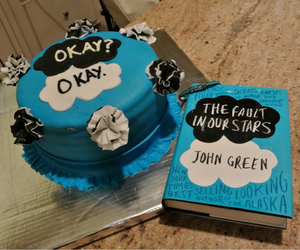 the fault in our stars, book, and cake image