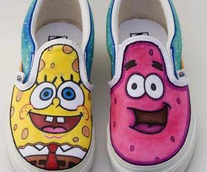shoes, spongebob, and patrick image