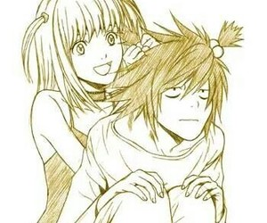 L, death note, and misa image