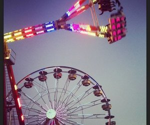 carnival, food, and rides image