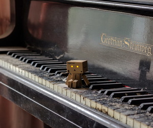 danbo, piano, and vintage image